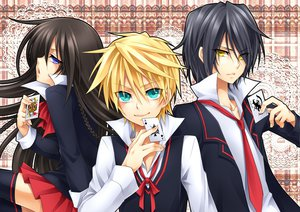 Rating: Safe Score: 15 Tags: alice_(pandora_hearts) gilbert_nightray oz_vessalius pandora_hearts User: HawthorneKitty