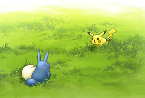 Rating: Safe Score: 37 Tags: crossover grass pikachu pokemon technoheart tonari_no_totoro totoro User: FormX