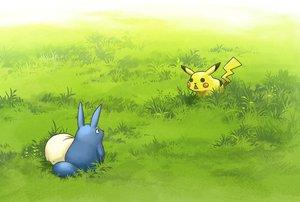 Rating: Safe Score: 49 Tags: crossover grass mocha_(cotton) pikachu pokemon tonari_no_totoro totoro User: FormX