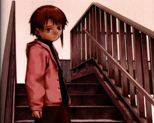 Rating: Safe Score: 1 Tags: brown_eyes brown_hair iwakura_lain polychromatic serial_experiments_lain short_hair stairs User: happygestapo