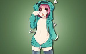 Rating: Questionable Score: 142 Tags: ana_dogukishi anthropomorphism breasts creeper green hoodie loli minecraft nipples no_bra photoshop red_eyes red_hair short_hair User: TITaN4709