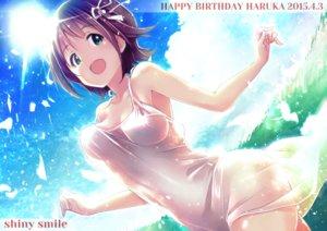 Rating: Safe Score: 151 Tags: amami_haruka breasts cleavage green_eyes idolmaster ima_(lm_ew) see_through short_hair User: Flandre93