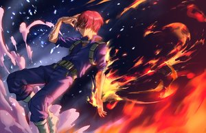Rating: Safe Score: 10 Tags: all_male athenawyrm boku_no_hero_academia fire male red_hair short_hair todoroki_shouto User: RyuZU