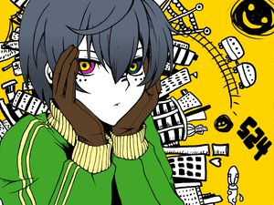 Rating: Safe Score: 55 Tags: all_male bicolored_eyes building ciel_phantomhive city kuroshitsuji male matryoshka_(vocaloid) parody vocaloid User: Katsumi