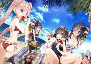 Rating: Safe Score: 248 Tags: 218 ass beach bikini clouds drink food glasses group original scenic sky swimsuit water User: Flandre93