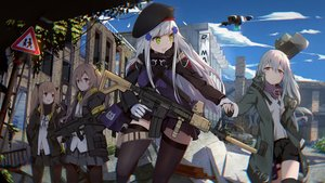 Rating: Safe Score: 64 Tags: anthropomorphism g11_(girls_frontline) girls_frontline group gun hk416_(girls_frontline) long_hair marcellokito! pantyhose thighhighs ump-45_(girls_frontline) ump-9_(girls_frontline) weapon User: Dreista