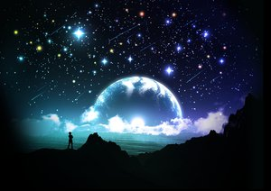 Rating: Safe Score: 148 Tags: 3d clouds landscape moon original scenic sky stars water y-k User: STORM