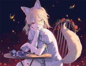 Rating: Safe Score: 79 Tags: animal_ears blonde_hair doll dress flowers foxgirl hajin kudamaki_tsukasa petals rose tail touhou yellow_eyes User: BattlequeenYume