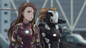 Rating: Safe Score: 91 Tags: brown_hair cosplay idolmaster long_hair marvel_comics minase_iori parody takatsuki_yayoi taku1122 techgirl twintails waifu2x weapon User: FoliFF