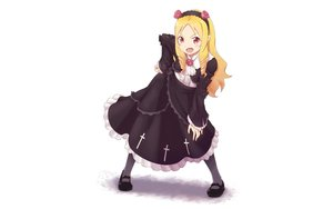 Rating: Safe Score: 37 Tags: 960_kuron blonde_hair blush cosplay dress eromanga-sensei goth-loli headband lolita_fashion long_hair ore_no_imouto_ga_konna_ni_kawaii_wake_ga_nai pink_eyes pointed_ears white yamada_elf User: RyuZU