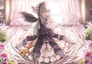 Rating: Safe Score: 90 Tags: dress flowers kunkun red_eyes rozen_maiden shiokonbu suigintou wings User: HawthorneKitty