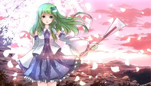 Rating: Safe Score: 45 Tags: animal gray_hair green_eyes headdress kochiya_sanae long_hair risutaru skirt snake touhou User: Flandre93