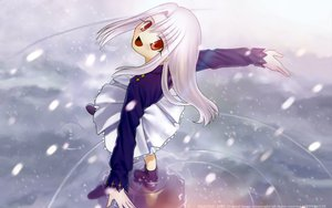 Rating: Safe Score: 10 Tags: fate/stay_night illyasviel_von_einzbern snow type-moon water User: Oyashiro-sama