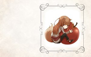 Rating: Safe Score: 33 Tags: animal_ears apple brown_hair horo long_hair red_eyes spice_and_wolf tail white wolfgirl User: wanjas