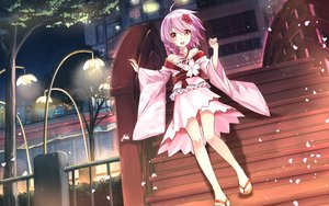 Rating: Safe Score: 247 Tags: aliasing anthropomorphism braids building cherry_blossoms dress flowers hika_(cross-angel) japanese_clothes leaves lolita_fashion night petals pink_eyes pink_hair scenic sergestid_shrimp_in_tungkang short_hair stairs tree xuan_ying User: gnarf1975