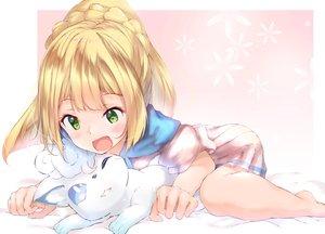 Rating: Safe Score: 67 Tags: animal blonde_hair blush green_eyes lillie_(pokemon) long_hair pokemon school_uniform ukiwakisen vulpix User: sadodere-chan