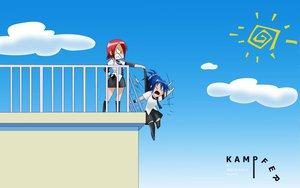 Rating: Safe Score: 32 Tags: genderswap kampfer mishima_akane senou_natsuru sky User: Worried