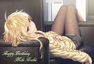 Rating: Safe Score: 93 Tags: blonde_hair green_eyes hoshii_miki idolmaster long_hair nanaran pantyhose shorts waifu2x User: otaku_emmy