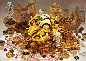 Rating: Safe Score: 35 Tags: boots cake candy chocolate demizu_posuka dress food hat ice_cream long_hair original red_hair valentine watermark User: otaku_emmy