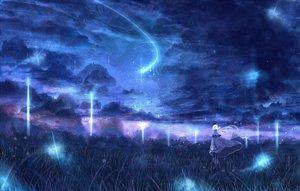 Rating: Safe Score: 110 Tags: bou_nin clouds dress grass landscape long_hair original scenic sky white_hair User: Flandre93