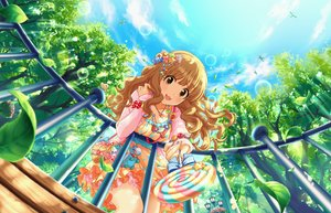 Rating: Safe Score: 13 Tags: animal annin_doufu bird bow breasts brown_eyes brown_hair candy cat_smile clouds dress idolmaster idolmaster_cinderella_girls idolmaster_cinderella_girls_starlight_stage lollipop long_hair moroboshi_kirari necklace sky tree User: RyuZU