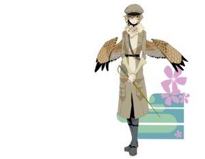 Rating: Safe Score: 27 Tags: 1ji45fun boots flowers short_hair sword weapon wings yellow_eyes User: noitis