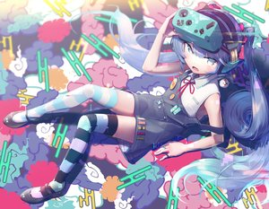 Rating: Safe Score: 46 Tags: blue_eyes blue_hair gesoking06 hatsune_miku headphones loli thighhighs vocaloid User: FormX