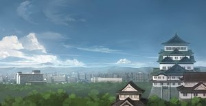 Rating: Safe Score: 118 Tags: building city clouds jpeg_artifacts landscape original scenic seo_tatsuya sky User: FormX
