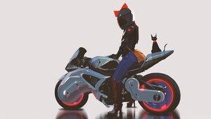Rating: Safe Score: 69 Tags: black_hair bow jiji_(character) kiki majo_no_takkyuubin motorcycle short_hair snatti third-party_edit witch User: boomshadow