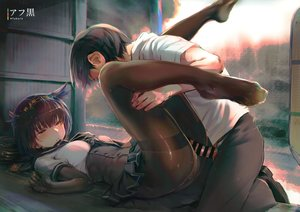 Rating: Explicit Score: 172 Tags: afukuro anthropomorphism brown_hair censored elbow_gloves gloves hatsuzuki_(kancolle) headband kantai_collection male pantyhose penis school_uniform sex skirt spread_legs yellow_eyes User: RyuZU
