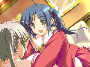 Rating: Safe Score: 6 Tags: 2girls blue_hair blush favorite game_cg gray_hair green_eyes happy_margaret! kokonoka nishinomiya_shizuru ribbons rindou_saki school_uniform skirt User: 秀悟