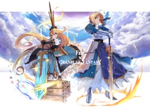 Rating: Safe Score: 77 Tags: 2girls armor artoria_pendragon_(all) blonde_hair blue_eyes charlotta_(granblue_fantasy) crossover dress fate_(series) fate/stay_night granblue_fantasy loli saber sword touzai_(poppin_phl95) weapon User: FormX