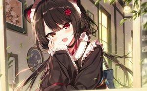 Rating: Safe Score: 158 Tags: animal_ears bicolored_eyes brown_hair cat_smile close doggirl fang inui_toko japanese_clothes kimono maid nijisanji shinoba User: BattlequeenYume