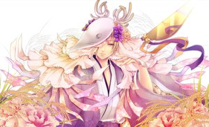 Rating: Safe Score: 49 Tags: all_male domco flowers horns japanese_clothes kimono male mask natsume_takashi natsume_yuujinchou User: MissBMoon