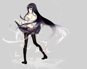 Rating: Safe Score: 65 Tags: akemi_homura antenna_(draconian) mahou_shoujo_madoka_magica monogatari_(series) panties parody striped_panties underwear User: HawthorneKitty