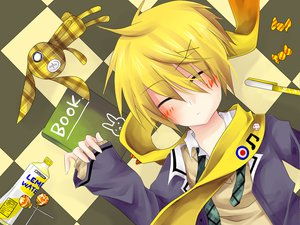 Rating: Safe Score: 13 Tags: aliasing book bunny candy drink kagamine_len lollipop male vocaloid User: HawthorneKitty
