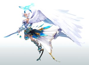 Rating: Safe Score: 146 Tags: aka_tonbo_(lovetow) halo original pointed_ears purple_eyes short_hair sword weapon white_hair wings User: FormX