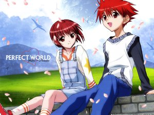 Rating: Safe Score: 3 Tags: dnangel harada_riku niwa_daisuke petals red_eyes red_hair User: Oyashiro-sama