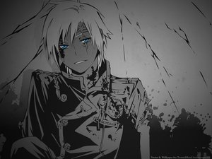 Rating: Safe Score: 35 Tags: allen_walker blue_eyes d.gray-man dark monochrome vector User: Zloan