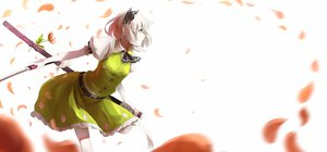 Rating: Safe Score: 103 Tags: flowers gray_hair green_eyes katana konpaku_youmu nishiuri petals short_hair sword touhou weapon User: SciFi