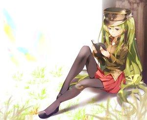 Rating: Safe Score: 21 Tags: 1925_(vocaloid) 83fake black_eyes book grass green_hair hat hatsune_miku long_hair pantyhose skirt twintails vocaloid User: RyuZU