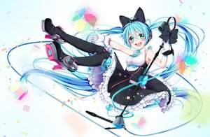 Rating: Safe Score: 87 Tags: hatsune_miku long_hair magical_mirai_(vocaloid) rinrin twintails vocaloid User: luckyluna