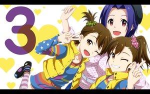 Rating: Safe Score: 19 Tags: futami_ami futami_mami idolmaster kouchou_(artist) miura_azusa twins User: RyuZU