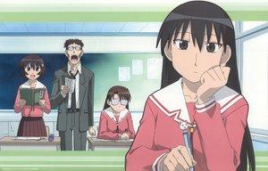 Rating: Safe Score: 22 Tags: azumanga_daioh black_hair brown_eyes brown_hair glasses kagura kimura long_hair mizuhara_koyomi sakaki school_uniform User: Maho