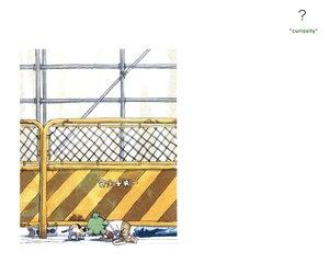 Rating: Safe Score: 12 Tags: animal azuma_kiyohiko cat koiwai_yotsuba white yotsubato! User: Oyashiro-sama