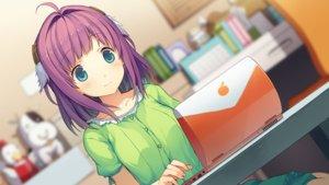 Rating: Safe Score: 51 Tags: akinashi_yuu ao_no_kanata_no_four_rhythm blue_eyes computer game_cg ichinose_rika pajamas purple_hair short_hair User: Maboroshi