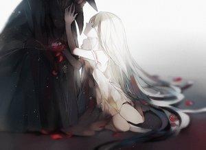 Rating: Safe Score: 97 Tags: long_hair mask original petals polychromatic sketch tagme_(artist) User: otaku_emmy