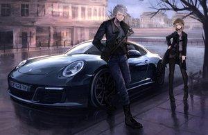 Rating: Safe Score: 184 Tags: blonde_hair boots building car cigarette city gun hat koh_(minagi_kou) male original pantyhose smoking weapon white_hair wristwear User: Zolxys