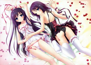 Rating: Questionable Score: 169 Tags: 2girls blush garden_(galge) kanekiyo_miwa kasuga_nadeshiko kasuga_sakurako panties ribbons thighhighs underwear User: rayrei