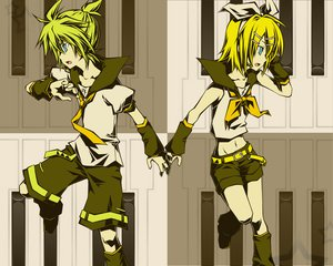 Rating: Safe Score: 10 Tags: kagamine_len kagamine_rin vocaloid User: HawthorneKitty